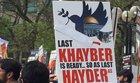 Toronto: Sign threatening massacre of Jews at Al Quds Day event
