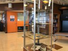 Holocaust memorial display in library