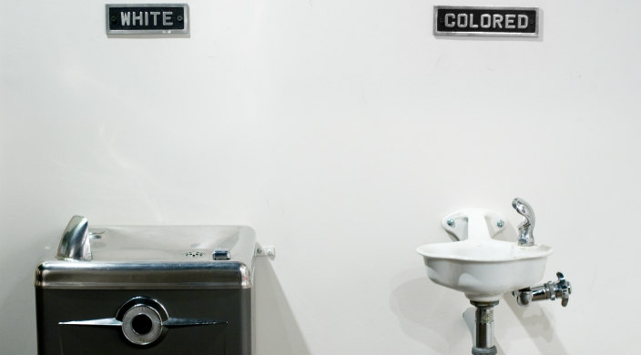 Racially segregated water fountains in the south