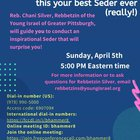 "Anxious about having to make a seder this year with social distancing and other restrictions? Join Rebbetzin Silver on April 5th to learn how to make ""your best seder ever"""