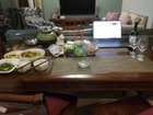 Seder table set for 2 in central China