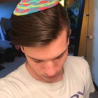 Pastel Rainbow Kippah Sruga for PRIDE /// My coworkers wife made it for me...