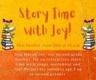 Story Time with Joy hosted by Oseh Shalom Reconstructionist Synagogue
