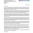 """Board of Deputies of British Jews' letter to China: """"Nobody could fail to notice the similarities between what's happening in China today and what happened in Nazi Germany 75 years ago."""" (x-post from /r/china)"""