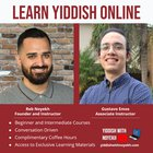 Winter registration is live at YiddishWithNoyekh! Offering all levels of Yiddish, both language and literature courses! And mazl tov to Gustavo who has joined my team as an instructor! It's a real koved! www.yiddishwithnoyekh.com/book-a-class