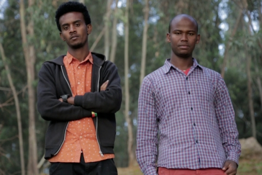 Two young Ethiopian men at the heart of the new film Passengers