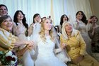 The Bride's Throne and her awesome pre-chuppah Superpowers!
