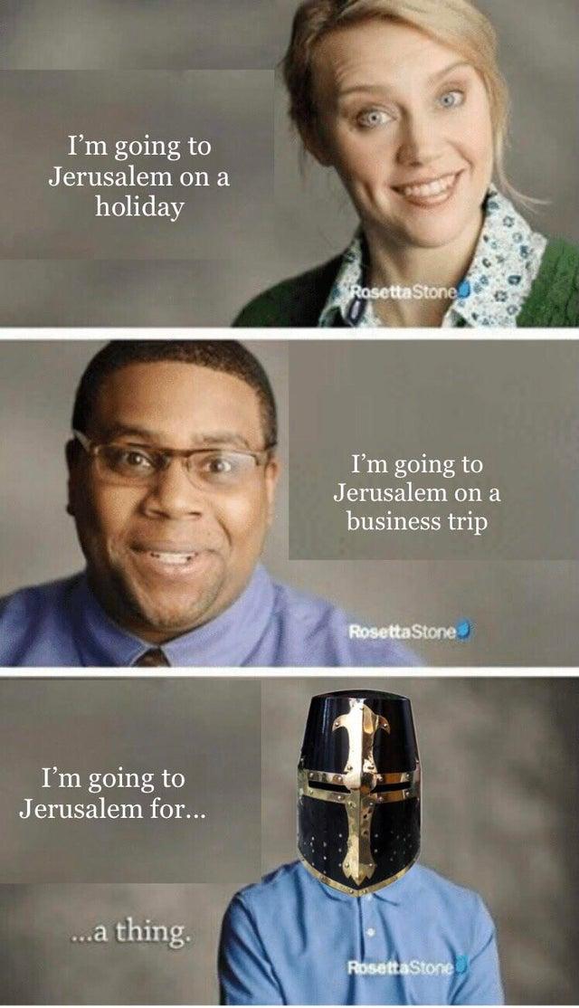 I just like Jerusalem officer, it's nothing