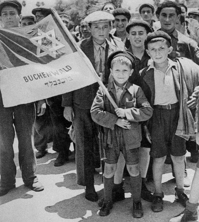 On this day, Buchenwald was liberated. The boy in front is 8 year old Yisrael Meir Lau, future Chief Rabbi of Israel.