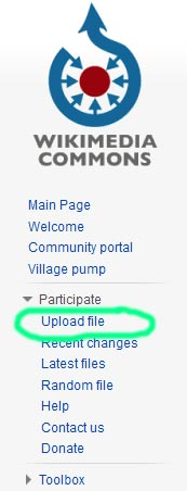 how to upload photos to wikimedia commons