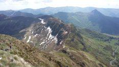 Vue panoramique depuis le sommet du Puy Mary