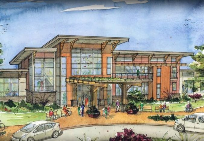 Archetectural rendering of clinic