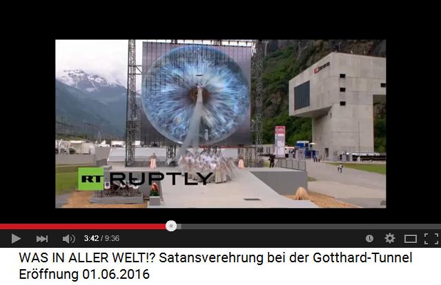 Satanisten am Gotthard-Basistunnel 01: Das Auge
