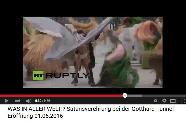 Satanisten am Gotthard-Basistunnel 03: Eine Frau opfert sich dem Steinbock