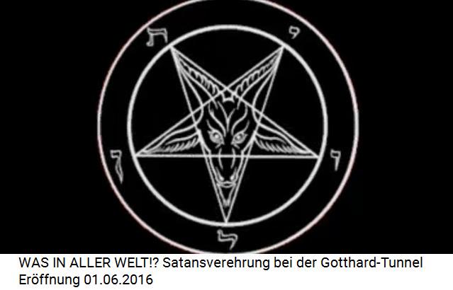 Der Steinbock ist das Symbol für den satanistischen Fünfzackstern der Satanisten-Hexerei, hier mit hebräischen Buchstaben versehen