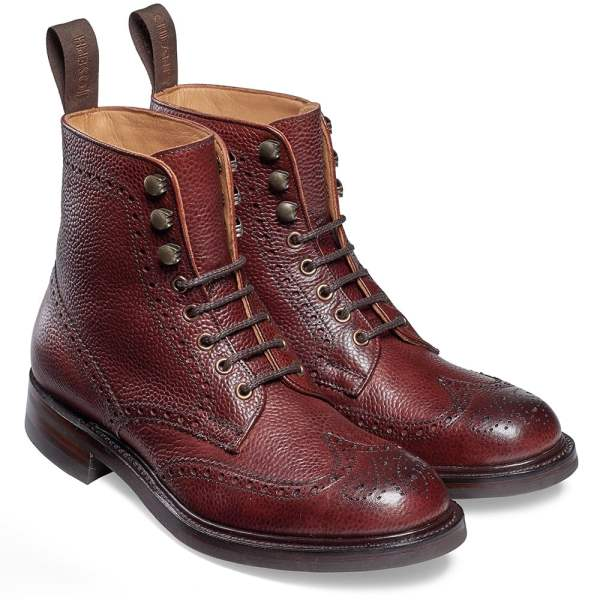 Cheaney Olivia Ladies Country Brogue Ankle Boot