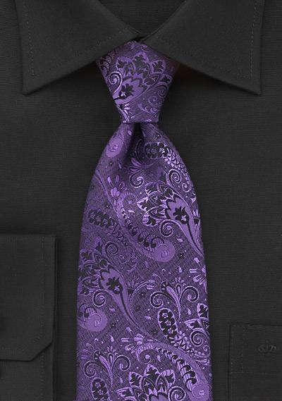 Purple Paisley Ties  Five New Purple Neckties with Trendy Paisleys