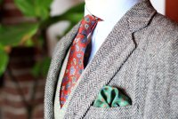 Vintage Paisley Silk Tie + Floral Pocket Square SALE