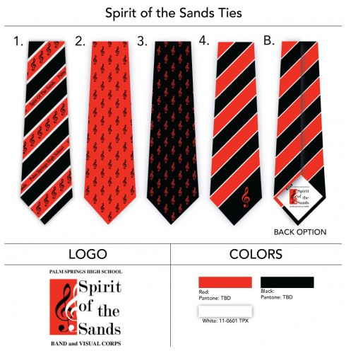 Custom Neckties for High School Pipe Band
