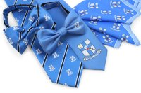 Custom Logo Neckties, Bow Ties, and Matching Pocket Squares