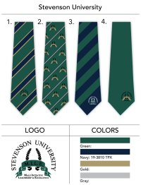 Custom Striped Ties for Universities and Schools
