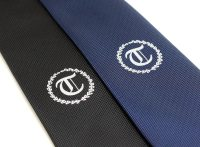 Custom Neckties with Centered Embroidered Logo
