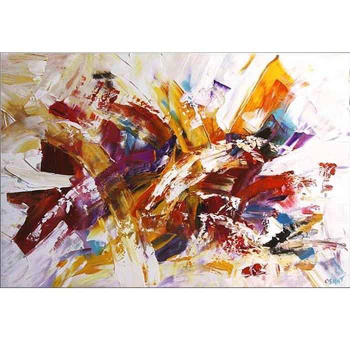 maleri med mange farver