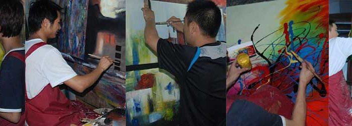 billige oliemalerier - ægte malerier