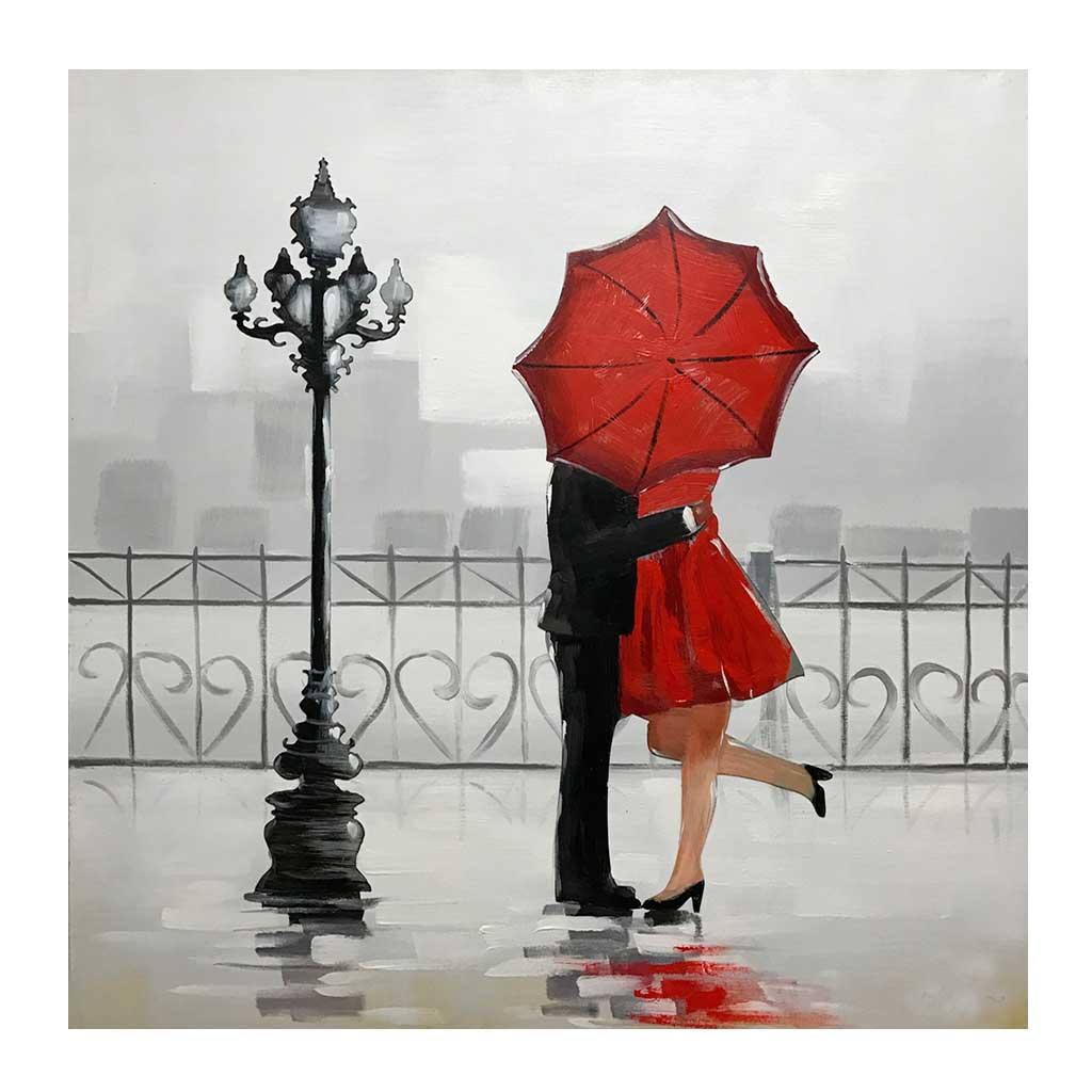 Kys i London Maleri
