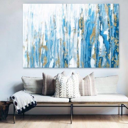 Maleri vandfald af guld