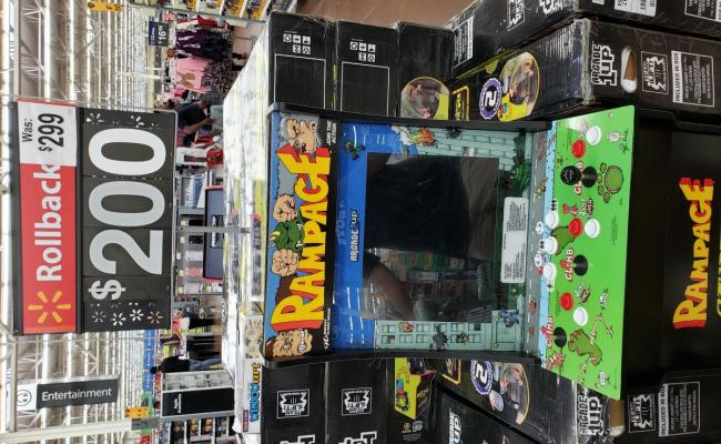 Arcade 1up Cabinets 200 At Walmart Ymmv Video Game