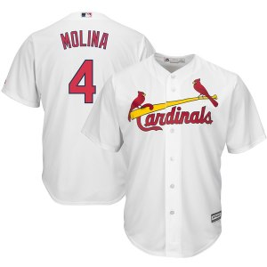Men's St. Louis Cardinals Yadier Molina Majestic White Home Cool Base Player Jersey