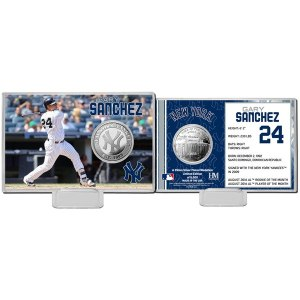 New York Yankees Gary Sanchez Highland Mint Mint Player Silver Collector Coin Card