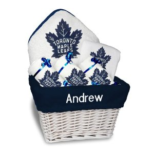 Newborn & Infant Toronto Maple Leafs White Personalized Medium Gift Basket