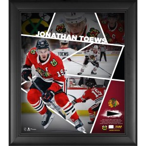 Chicago Blackhawks Jonathan Toews Fanatics Authentic Framed 15'' x 17'' Impact Player Collage with a Piece of Game-Used Puck - Limited Edition of 500