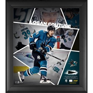 San Jose Sharks Logan Couture Fanatics Authentic Framed 15'' x 17'' Impact Player Collage with a Piece of Game-Used Puck - Limited Edition of 500