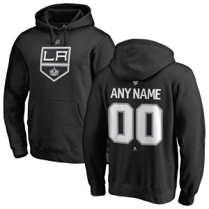 Men's Los Angeles Kings Fanatics Branded Black Personalized Team Authentic Pullover Hoodie