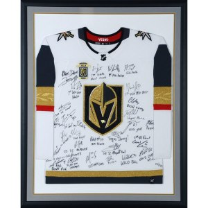 William Karlsson Fanatics Authentic Framed 2018 Western Conference Champions White Adidas Authentic Jersey with Multiple Signatures & Inscriptions - Limited Edition of 50