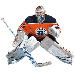 Edmonton Oilers Cam Talbot Fathead Life Size Removable Wall Decal