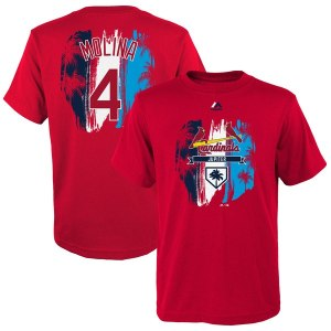 Youth St. Louis Cardinals Yadier Molina Majestic Red 2019 Spring Training Name & Number T-Shirt