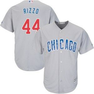 Men's Chicago Cubs Anthony Rizzo Majestic Gray Official Cool Base Player Jersey