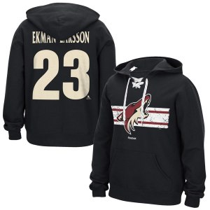 Men's Arizona Coyotes Oliver Ekman-Larsson Reebok Black Honor Code Name & Number Hoodie