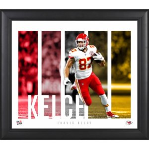 Kansas City Chiefs Travis Kelce Fanatics Authentic Framed 15