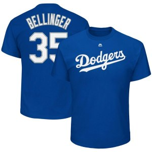 Toddler Los Angeles Dodgers Cody Bellinger Majestic Royal Player Name & Number T-Shirt