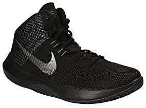 Nike 898452-001: Mens Air Precision Black Metalic Dark Grey White Sneakers (8 D(M) US Men) McKinney, Texas