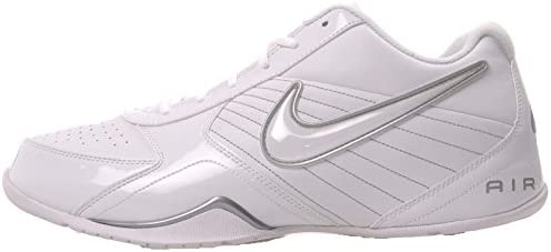Nike Mens Air Baseline Low Basketball Shoes-White/White-Metallic Silver-12 Clearwater, Florida