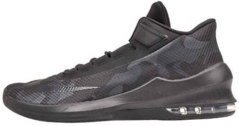 Nike Men's Air Max Infuriate 2 Mid Premium Basketball Shoe, Black/Black-Black-Anthracite, 9.5 New Orleans, Louisiana