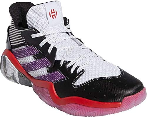 adidas Men's Harden Stepback Basketball Shoes CloudWhite/GloryPurple/CoreBlack Size Jackson, Mississippi