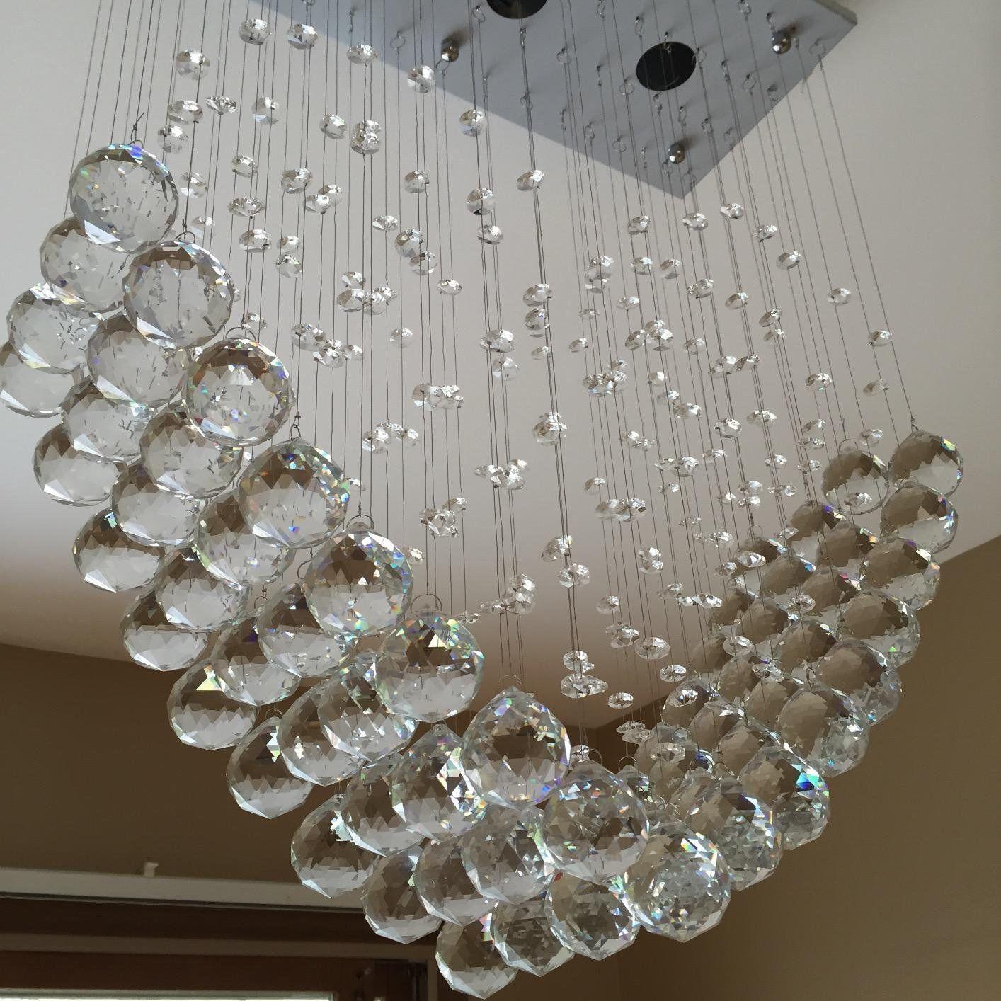 Modern Heart Crystal Pendant Lamp Ceiling Light Rain Drop