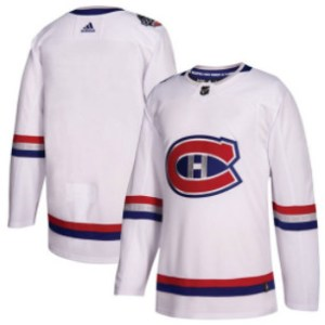 Adidas Canadiens Blank White Authentic 2017 100 Classic Stitched NHL Jersey